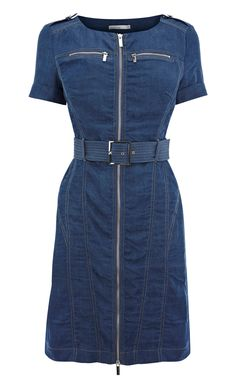 Karen Millen Soft Denim Dress ,fashion Karen Millen Solid Color Dresses outlet