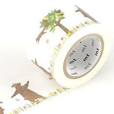 MT Masking tape kasaneru bear & squirrel