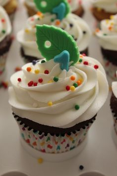 The Very Hungry Caterpillar 1st Birthday Cupcake