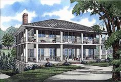 omg love the wrap around porch on this Plantation House