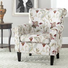 online shopping for Safavieh Mercer Collection Margaret Ivory Floral Cotton Club Chair from top store. See new offer for Safavieh Mercer Collection Margaret Ivory Floral Cotton Club Chair Living Room Chairs, Living Room Furniture, Dining Chairs, Wingback Chairs, Overstuffed Chairs, Chair Upholstery, Chair Cushions, Side Chairs, Pillows