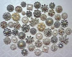 52 pc Assortment Clear Rhinestones and by PearlsBlingsNThings, $58.90 to make broch bouquet