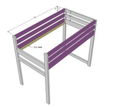 DIY Projects Camp Loft Bed with Stair, Junior Height Woodworking Plans by Ana White