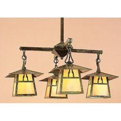 Arroyo Craftsman Carmel 4 Light Sputnik Chandelier