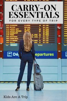 Carry On Essentials - When you travel it is important to have everything you need within easy reach. This post breaks down the essentials you need in your carry-on whether you are traveling alone, overseas, or with kids.-Kids Are A Trip Travel Advice, Travel Tips, Travel Hacks, Travel Ideas, Travel Info, Travel Destinations, Packing Hacks, Travel Articles, Travel Abroad