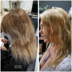 Before & After result! Charlene's lovely client Vanessa wanted to go blonder after previously rocking flamboyage.  Charlene achieved this beautiful honey hue 😍🐝 Book online with us @ www.sdhair.co.uk/, or call us on 01179 502 402 #bristol #hairdresser #hairdressing #davines #blondehair #blonde #honeyblonde #blondelocks