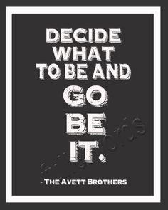 Avett Brothers -Head Full of Doubt lyrics - 8x10 digital printable word art. $5.00, via Etsy.