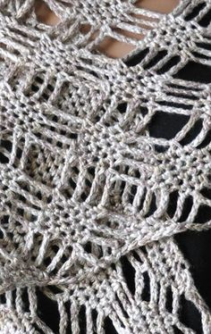 Panda Pearl Spider Lattice Stole, #crochet, free pattern, #haken, gratis patroon (Engels), omslagdoek, haakpatroon