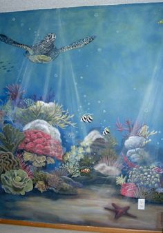 Baby Nursery- Ocean theme mural idea as seen on www.findamuralist.com
