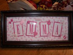 Name Frame Emma by jodisstampin - Cards and Paper Crafts at Splitcoaststampers Picture Frame Crafts, Picture Frames, Name Frame, Crafts With Pictures, Arts And Crafts Supplies, Paper Crafts, Names, Florida, Child