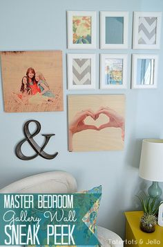 Shutterfly Wood Wall Art and Master Bedroom Gallery Wall Sneak Peek!! -- Tatertots and Jello