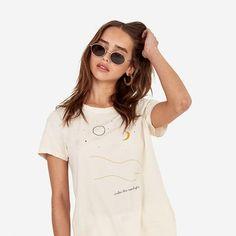 Classic Crew / Under The Moonlight Cute Girl Outfits, Timeless Design, Moonlight, Cute Girls, Organic Cotton, Shirt Dress, T Shirts For Women, Label, Classic