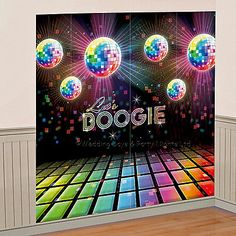 5ft Disco 70s 80s Theme Scene Setter Wall Decoration Photo Prop Birthday Party  | eBay