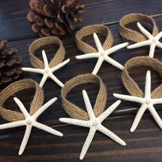 Some #coastal tree #ornaments for the #holidays.  This is tedious job but these are soooo sweet. #Beachchristmas