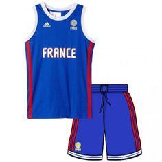 Tenue de l'équipe de france de basket 2015 pour enfants