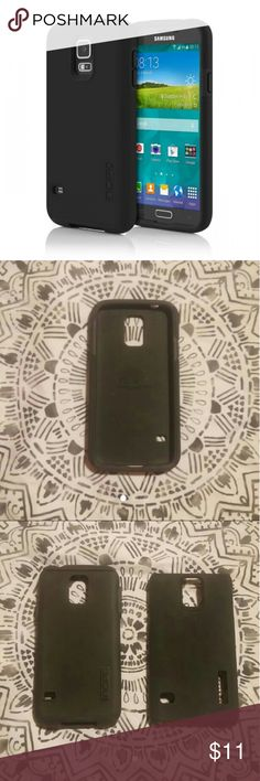 Samsung Galaxy S5 Incipio Case Selling my used black Samsung Galaxy S5 two piece Incipio case! In amazing condition just a few marks here an there, Incipio's are very good cases saved my phone many times! Currently retails $22 new Incipio  Other