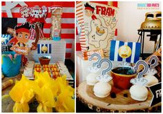 Treats and favors at a Jake and the Neverland Pirates birthday party! See more party ideas at CatchMyParty.com!
