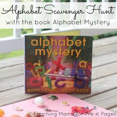 A fun alphabet scavenger hunt for preschool, pre-k, and kindergarten inspired by the book Alphabet Mystery Preschool Letters, Preschool Books, Kindergarten Literacy, Preschool Ideas, Teaching Ideas, Stem Preschool, Kindergarten Graduation, Preschool Education, Daycare Ideas