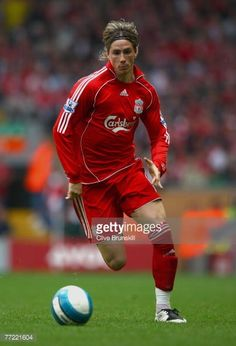 Fernando Torres of Liverpool in action during the Barclays Premier League match between Liverpool and Tottenham Hotspur at Anfield on October 7 2007 in Liverpool England