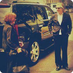"April 28, 2007 -- Alan Rickman and Rima Horton arriving for the Tribeca Film Festival premiere of ""Noble Son."""
