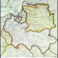 XVIII c. map of the Polish-Lithuanian Commonwealth