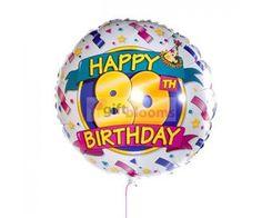 4 Happy 80th Birthday Balloon