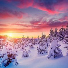 Winter sunset nature photography - A sunset is never the exact same. Instead of relying upon the camera's auto mode it is an ideal time to switch you. Winter Sunset, Winter Scenery, Winter Pictures, Nature Pictures, Winter Photography, Landscape Photography, Beautiful Nature Photography, Sunset Photography, Photography Magazine