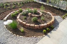 Garden Design Doing Yourself Pictures - Garden Design Ideas Herb Spiral, Spiral Garden, Herb Garden Design, Garden Deco, Brick Planter, Types Of Herbs, Permaculture, Garden Projects, Backyard Landscaping