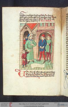 Cod. Pal. germ. 85: Antonius von Pforr: Buch der Beispiele (Schwaben, um 1480/1490), Fol 64v