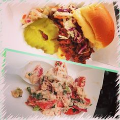 Brisket and lobster roll! Yum!