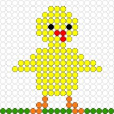 Kralenplank Kuikentje 3 Easy Crafts For Kids, Diy For Kids, Cute Crafts, Fuse Beads, Perler Beads, Pixel Art, Pearler Bead Patterns, Iron Beads, Simple Cross Stitch