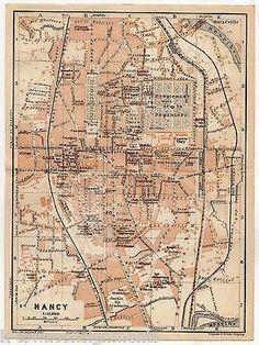 NANCY FRANCE ECOLE PROFESSIONNELLE ANTIQUE TRAVEL CITY MAP WAGNER & LEIPZIG 1909 Nancy France, See Images, Vintage World Maps, Travel City, Antique, Leipzig, Antiques, Old Stuff