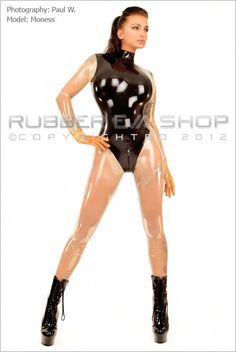 Two Tone Leotard Rubber Catsuit - Rubber Catsuits - Rubber Eva Shop