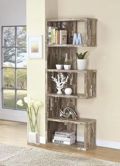 Minimalist Decorating Bookshelves Idea You Should Try - Home Decor Interior Rustic Outdoor Furniture, Rustic Living Room Furniture, Pallet Furniture, Furniture Decor, Living Room Decor, Antique Furniture, Modern Furniture, Furniture Storage, Furniture Layout