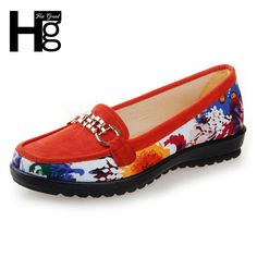 HEE GRAND New Floral Loafers Women's Shoes Traditional Manual Flats Sequined Chains Shallow Slip-on Elastic Shoes Woman XWC714