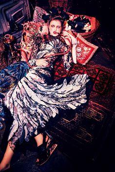 """Duchess Dior: """"An Exotic Sense of Destiny"""" by Ellen von Unwerth for Vogue Japan June 2016"""