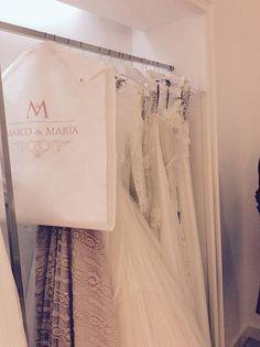 Preciosos guardatrajes para vestidos de novias que hemos hecho para la firma Marco & María #fundas #novias #vestidosdenovia
