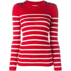 Isabel Marant Étoile 'Emsley' sweater (2 525 SEK) ❤ liked on Polyvore featuring tops, sweaters, red, etoile isabel marant sweater, red long sleeve top, ribbed top, red sweater and long sleeve sweaters