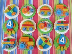 Transportation Cupcake Toppers by Lynlee's Petite Cakes, via Flickr