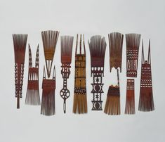 Polynesian Hair Combs from Samoa, Tonga, and Fiji (1800 to 1900	 Fiji / Tonga / Samoa)