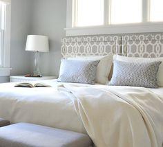 Bedroom Color Palette. Gray Bedroom Color Palette. Gray Bedroom Paint Color: Benjamin Moore Wickham Gray HC-171. #BedroomColorPalette #GrayBedroomPaintColor #BenjaminMooreWickhamGray