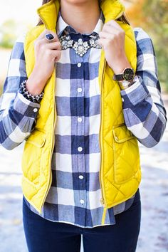 When I scored this chartreuse vest from J.Crew on sale, I knew that it would be the best fall asset.  Adding this buffalo plaid shirt in 'heather carbon' made it perfect to add some of my Continue reading →