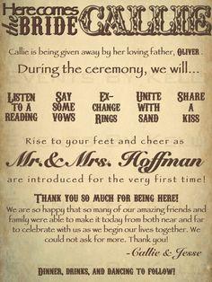 Vintage Fun Wedding Program  DIY  Printable by EventsByKelli, $20.00