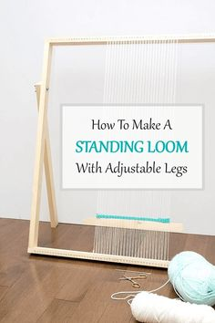 How To Make a Standing Loom With Adjustable Legs: This simple, straightforward DIY loom tutorial is intended to get you weaving in no time. loom diy How To Make a Standing Loom With Adjustable Legs - A Pretty Fix Yarn Crafts, Diy Crafts, Rug Loom, Weaving Loom Diy, Loom Weaving Projects, Weaving Art, Adjustable Legs, Tapestry Weaving, Weaving Textiles