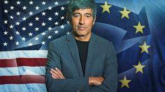Ranga Yogeshwar vor Europa- und USA-Flagge | Bildquelle: wdr