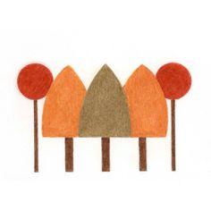 Autumn Gift Cards  Autumn Trees  Set of 4 by BlackCatStudioArt