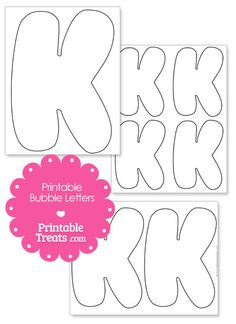 385d499ab1e19f5f346885da0add3924--bubble-letters-letter-k Onesie Template With Letter K on all sizes, kangaroo craft, logo design, large capital, free printable block, koala craft, printable writing,
