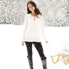 Sledding in white