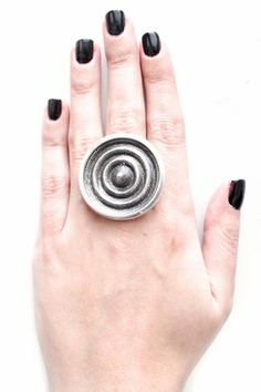 Low Luv by Erin Wasson Holiday Sandcast Ripple Ring