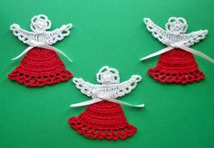 Three Tiny Angels by DonnasCrochetNook on Etsy